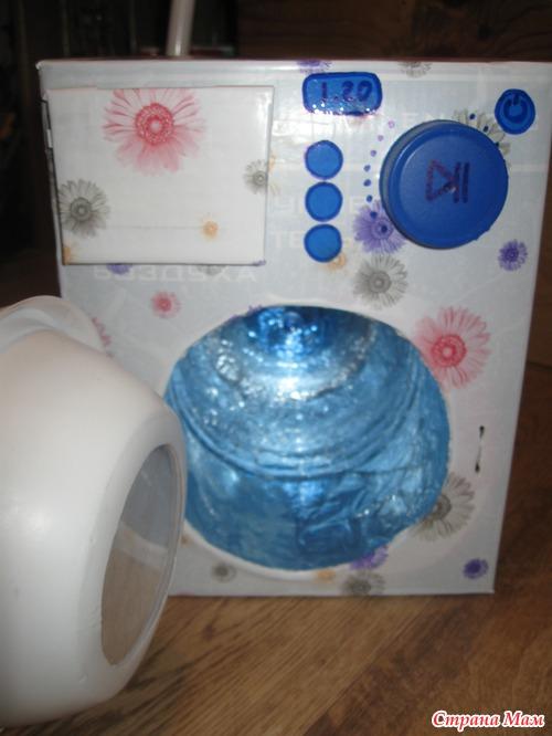 Как сделать стиральную машинку для кукол фото