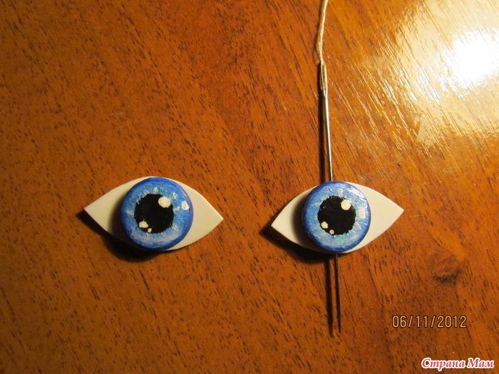 Мастер класс как сделать глаза кукле своими руками 86