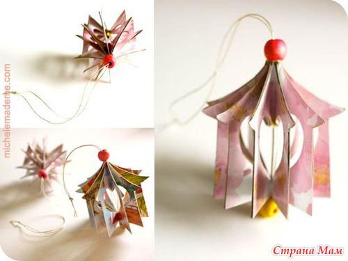 用纸板做的玩具圣诞树贺卡 - maomao - 我随心动