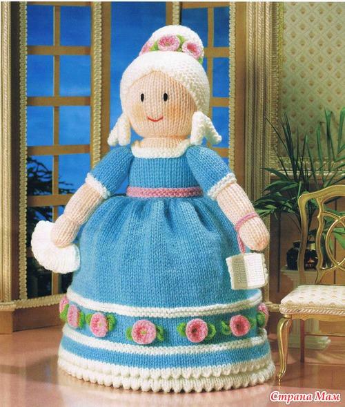 Золушка, кукла-перевертыш, совместное вязание, часть 1