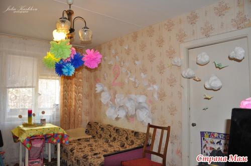 Оформление комнаты в день рождение