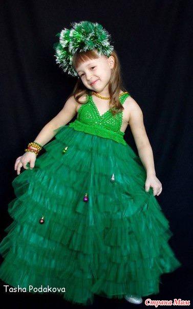 Детское платье елочка