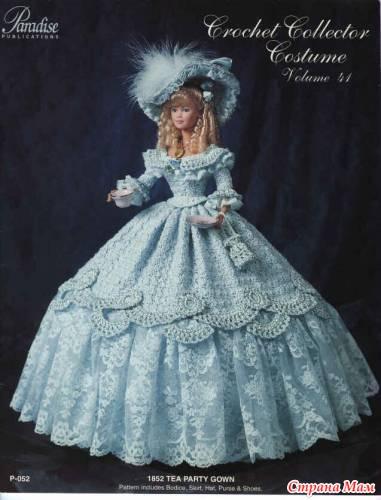 схемы вязания платьев для