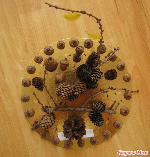 Часы из природного материала своими руками на тему осень 84