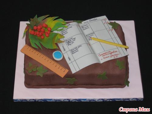 торт в виде дневника фото