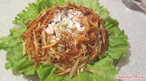 Картофель на корейской терке в салаты