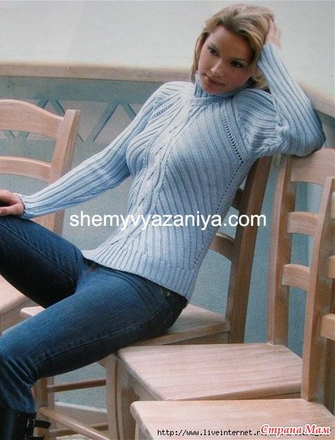Вяжем горло свитера