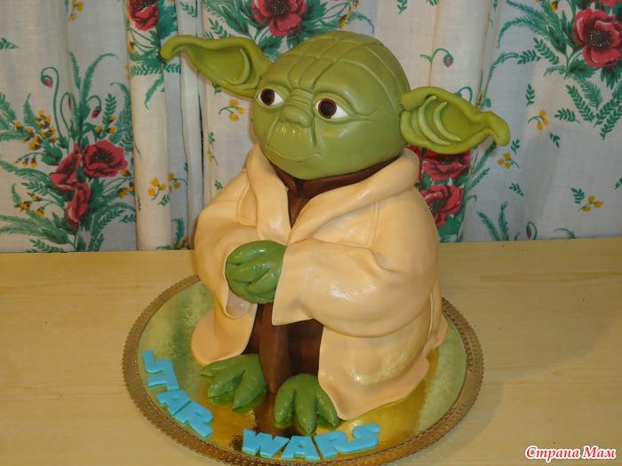 Торт учитель йода из звездных войн