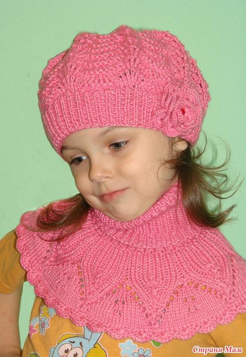 Вязание для девочек беретка 30