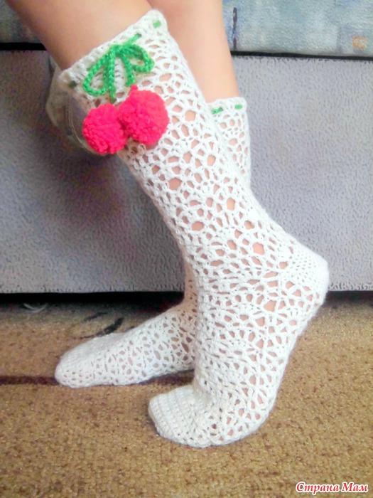 Вязание крючком носочки 380