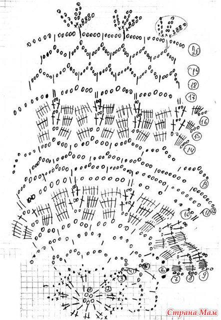 Схема вязания лебедей салфеток