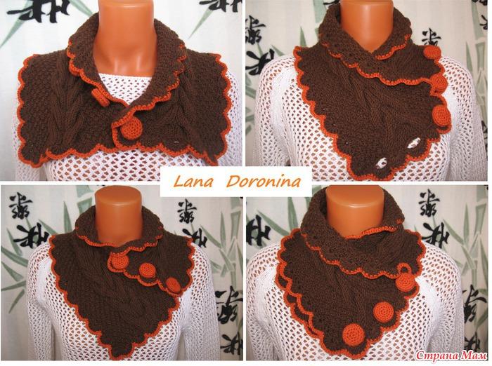 Спицы вязание шарф воротник
