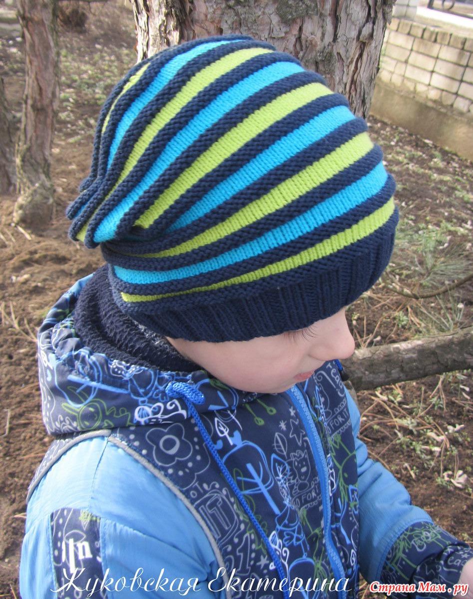 Вязание весенних шапочек для мальчиков