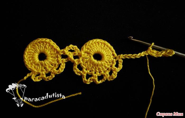 Безотрывное вязание кружочки крючком 50