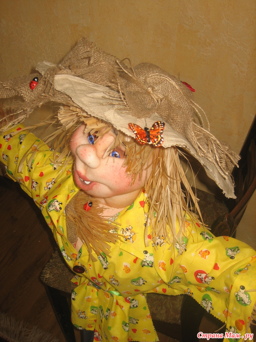 Как сделать куклу чучело на дачу своими руками