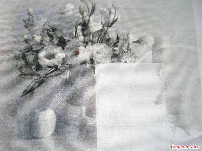 Белое на белом натюрморт вышивка