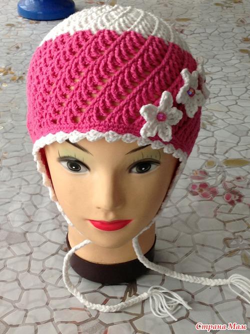 Женская шапка крючком мастер класс фото