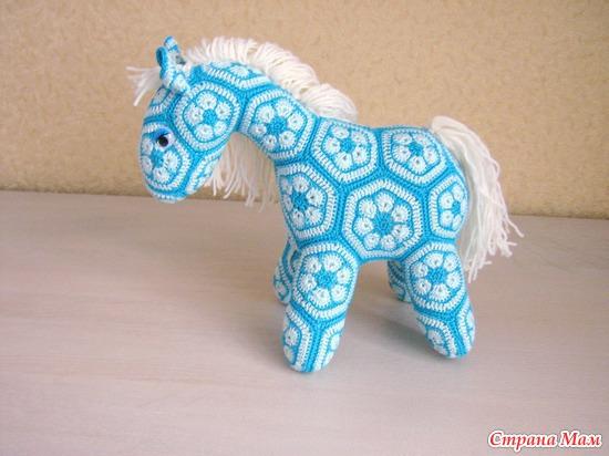 Лошадка из африканского цветка мастер класс