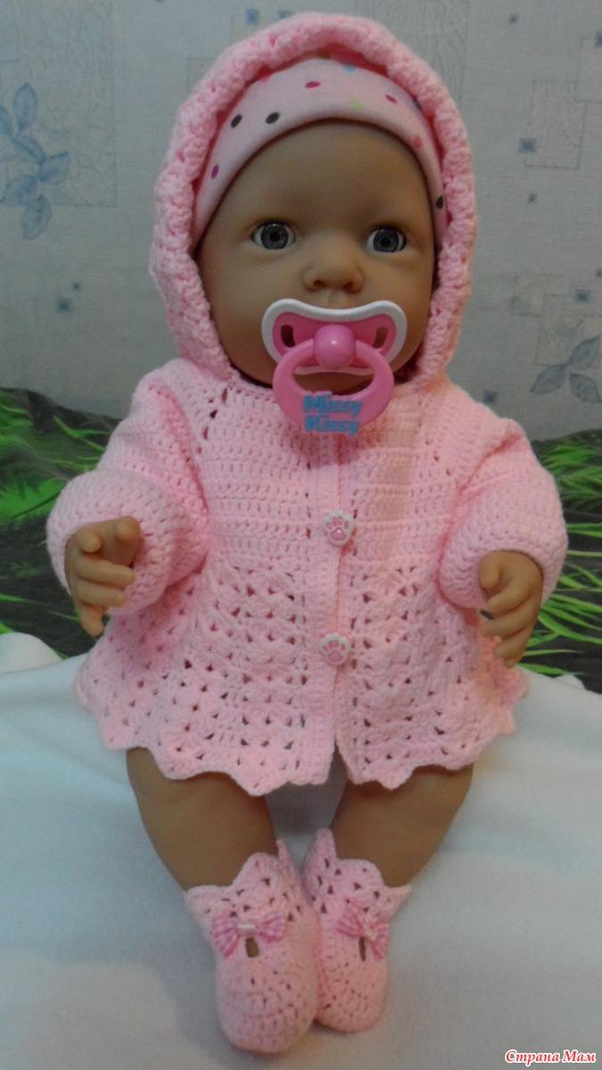 Вязание кофта для куклы 50