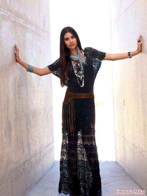 Вязаное крючком платье Free People