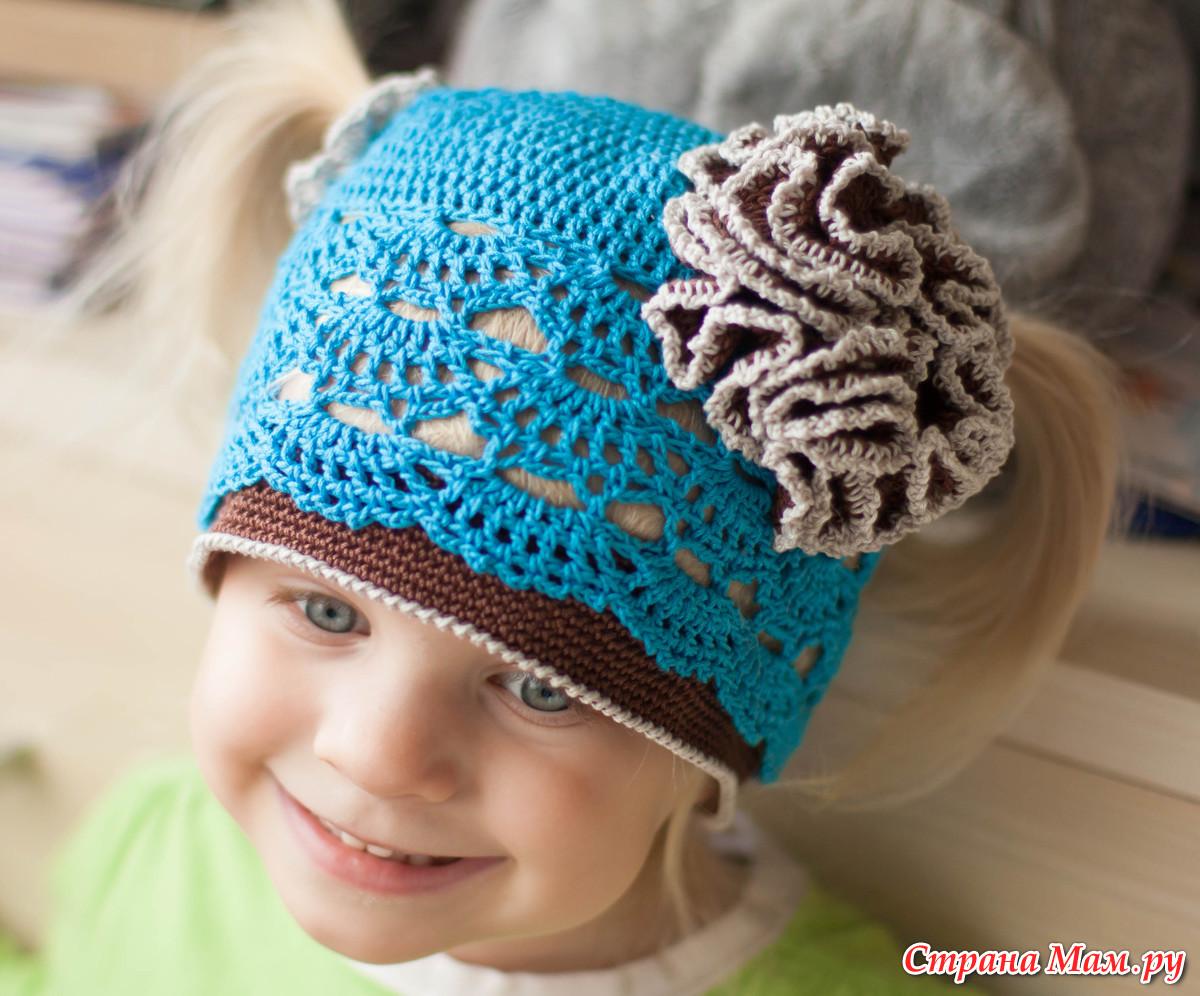 Вязание детские шапки для девочек
