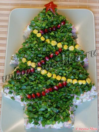 Украшаем салаты на новый год фото