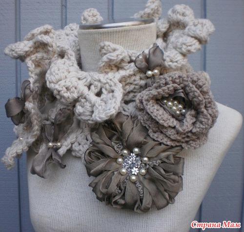 Вяжем вместе стильный шарфик.