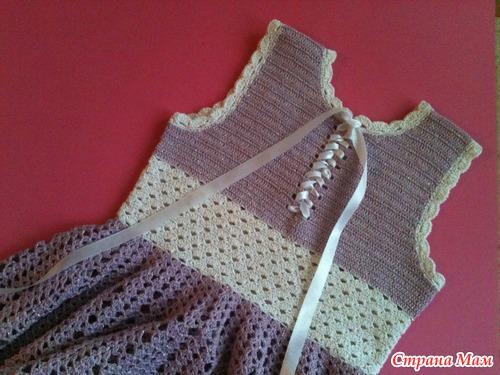 Вязание мастер класс спицами платья для