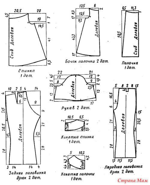 Выкройка брюки для девочки своими руками