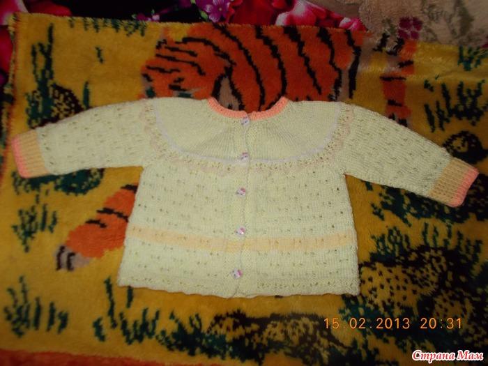 Вязание спицами два цвета