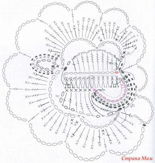 Красивые розы крючком (схемы)