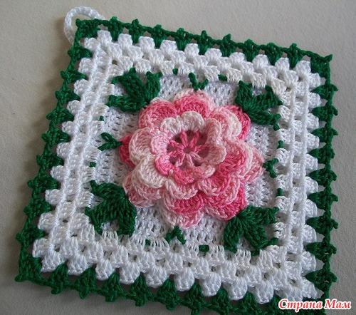 Схема Роза в бабушкином квадрате!