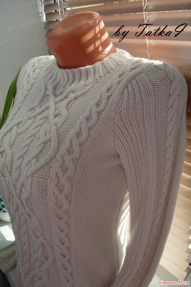 Вязание спицами зимний свитер
