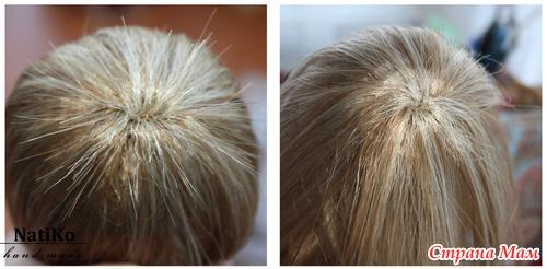 Волосы кукле из тресс