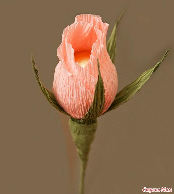 Бутон из роз своими руками
