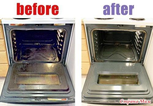 Чистим духовку
