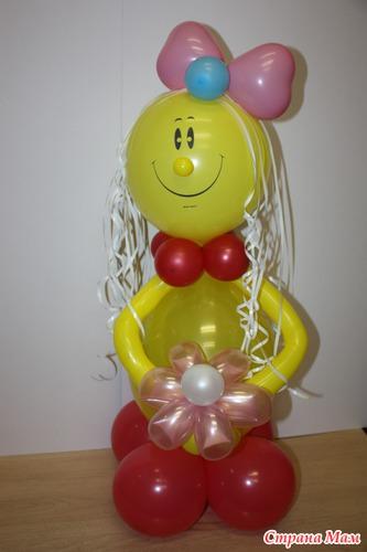 Как сделать бантик из воздушного шарика