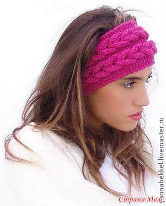 Вязание повязки на голову с