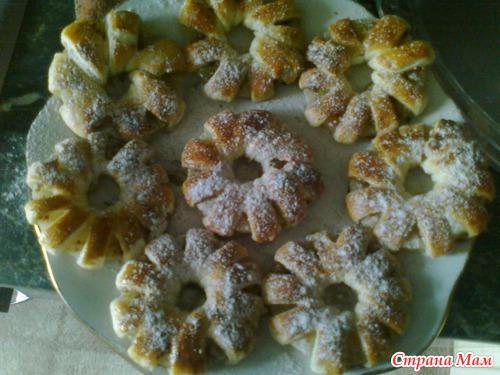 Слойки с ананасами рецепт с фото