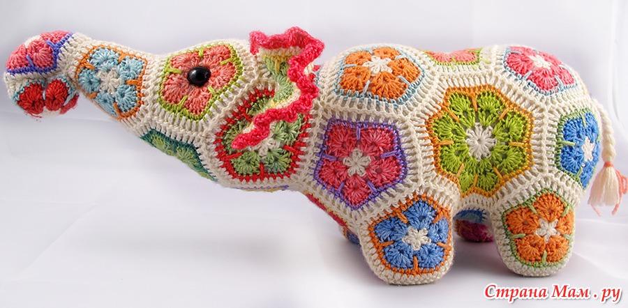 ebb12383c990 Вяжем цветочного слона. Обсуждение на LiveInternet - Российский Сервис  Онлайн-Дневников