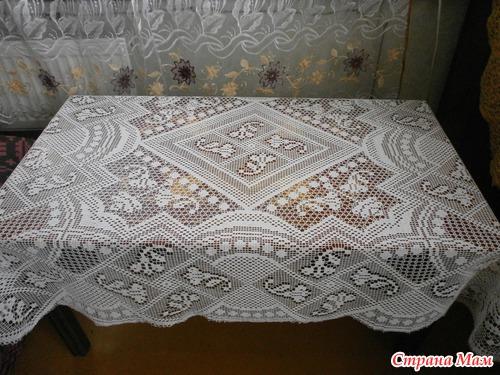 Вязание Филейная скатерть
