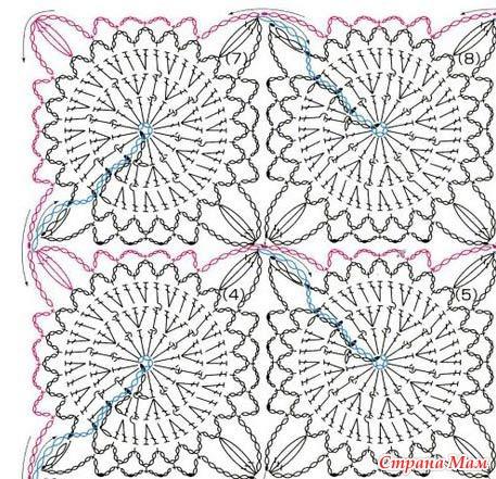 Безотрывное вязание (схемы)