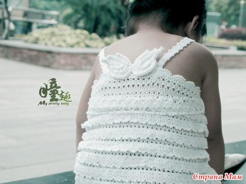 crochet white tank top for little angel