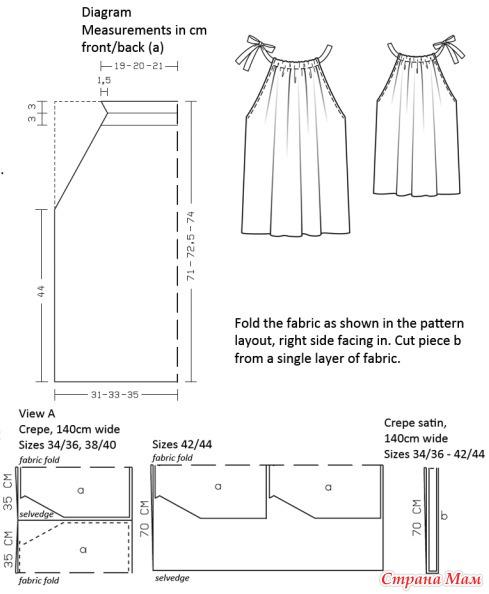 Пошив платья своими руками для девочки выкройка 531