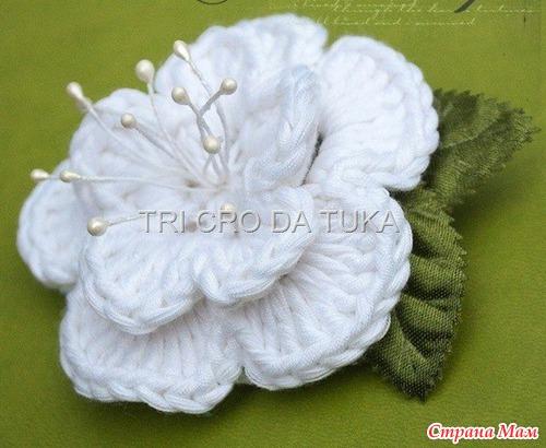 МК красивого цветка
