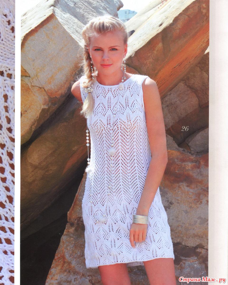 Вязание летние платья фото