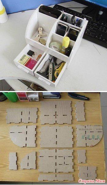 Как сделать органайзер из картона своими руками видео