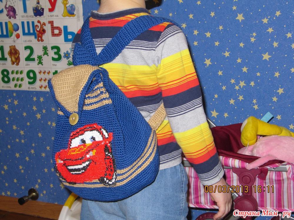 Вязание крючком детский рюкзак 82