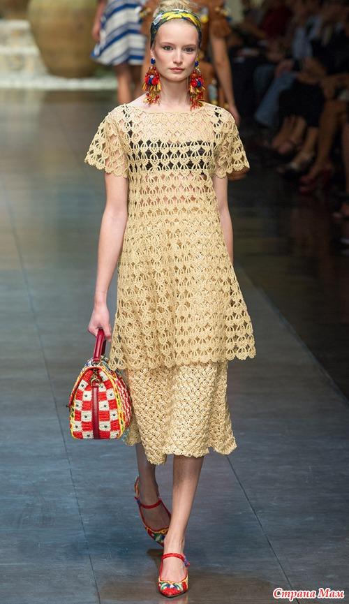 Платье с подиума.
