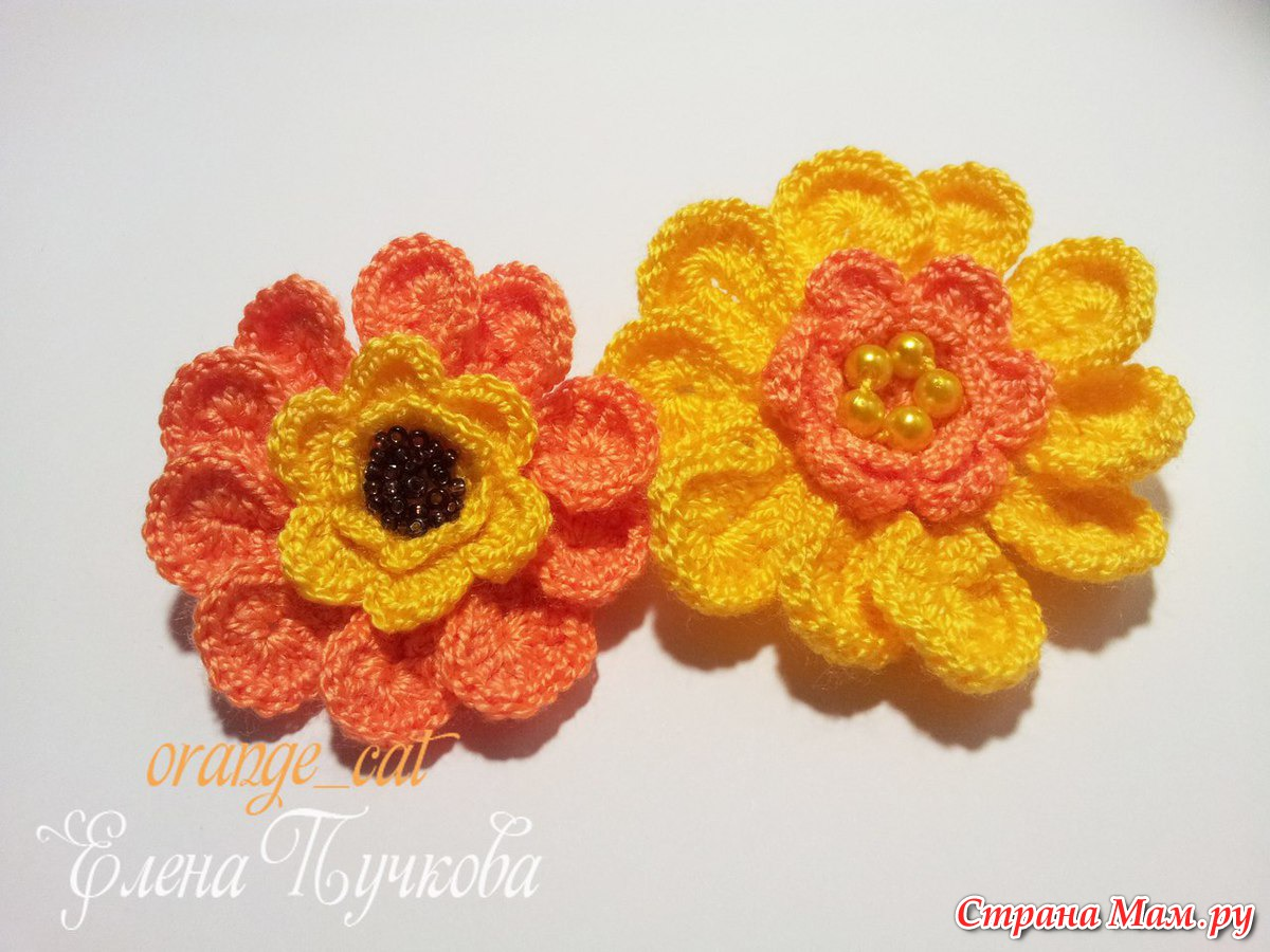 платья крючком из лепесточком и цветочков схемы
